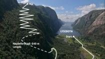 Trasa biegu Lysebotn Opp