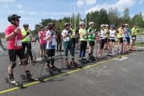 Nartorolkarze na torze wyścigowym przed startem w 2016 roku