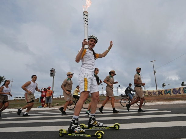Znicz Olimpijski jechał na nartorolkach na Rio 2016