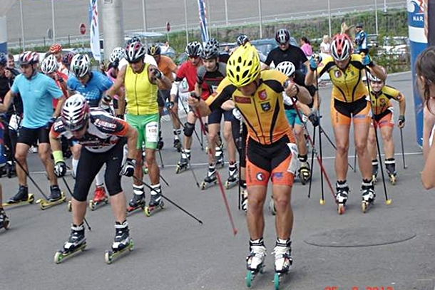 Relacja z rywalizacji na nartorolkach podczas Maratonu Sierpniowego 2012