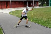 Kurs techniki łyżwowej na nartorolkach - dwukrok asynchroniczny
