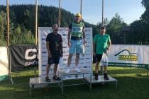 Polacy na podium sobotniego biegu w kategorii weteranów: 1. Jacek Mederski, 3. Józef Michałek