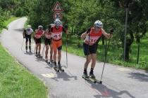 Czołówka na trasie biegu w sobotę na 28 km klasykiem