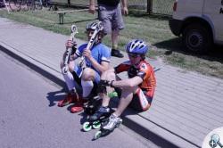 W Koziegłowach do wyścigu dopuszczeni byli zawodnicy na łyżworokach i nartorolkach.