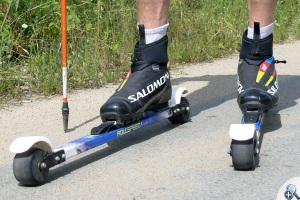 Nartorolki z wiązaniami i butami biegowymi