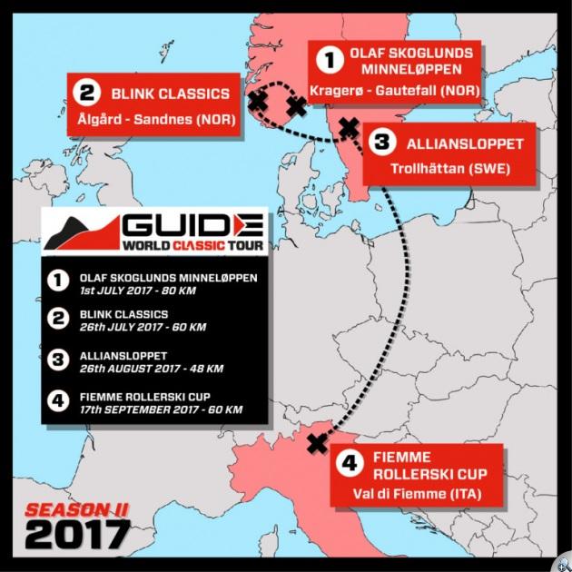 Mapa zawodów cyklu World Classic Tour 2017